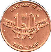 Token - Grand Lodge A.F. & A.M. of Canada in the Province of Ontario (150th Anniversary) – reverse