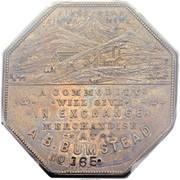 Dollar - Joseph Lesher (Colorado; A.B. Bumstead, Type 1) – obverse