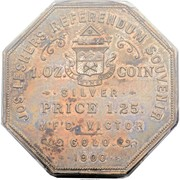 Dollar - Joseph Lesher (Colorado; A.B. Bumstead, Type 1) – reverse