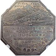 Dollar - Joseph Lesher (Colorado - A.B. Bumstead, Type 2) – obverse