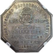 Dollar - Joseph Lesher (Colorado - A.B. Bumstead, Type 2) – reverse