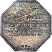 Dollar - Joseph Lesher (Colorado; Mining Scene; Imprint Type) – obverse