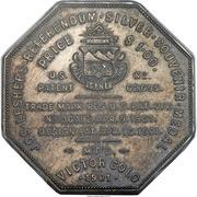 Dollar - Joseph Lesher (Colorado; Mining Scene; Imprint Type) – reverse