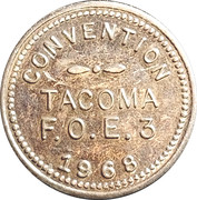 5 Cents - Fraternal Order of Eagles 3 Convention (Tacoma, Wa.) – obverse
