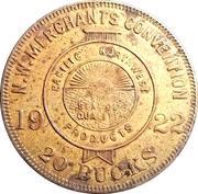 20 Bucks - N.W. Merchants convention (Seattle, Wa.) – reverse