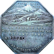 Dollar - Joseph Lesher (Colorado; Mining Scene; Bank Type) – obverse