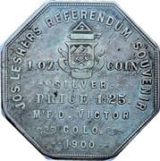 Dollar - Joseph Lesher (Colorado; Mining Scene; Bank Type) – reverse
