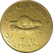 5 Dollars - Oregon Exchange Company (Beaver) – obverse