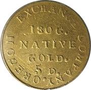 5 Dollars - Oregon Exchange Company (Beaver) – reverse