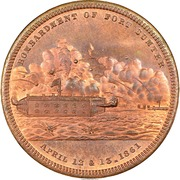 Dollar - Bombardment of Fort Sumter – obverse