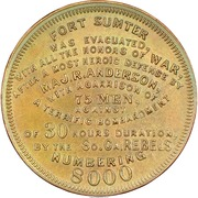 Dollar - Bombardment of Fort Sumter – reverse