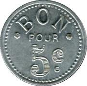 5 Centimes (Bon Pour) - Mercerie Lyonnaise - Montpellier [34] – reverse