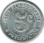 5 Centimes - Mercerie Lyonnaise - Montpellier [34] – reverse