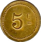 5 Centimes - L'Avenir Régional- Lyon [69] – reverse