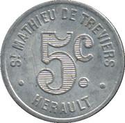5 Centimes - Maison Rigail - St Mathieu de Tréviers 34 – reverse
