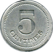 5 Centimes - Tuilerie Mécanique de Damiatte [81] – reverse