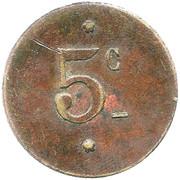 5 Centimes - Mines de Bir Lafou – reverse