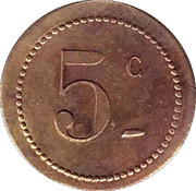 5 Centimes - UDC – obverse