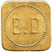 Jeton 75  B.D – reverse