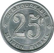 25 Centimes (Remboursable) - Maison Rigail - St Mathieu de Tréviers [34] – reverse