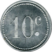 10 Centimes - Cercle de la Jeune France - Rougiers [83] – reverse