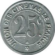 25 Centimes - Union des Cinémas de France (Paris [75]) – reverse