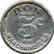 5 Centimes - Jartnac 16 – reverse