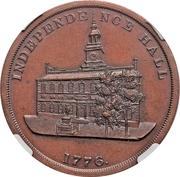 Dollar - U.S. Centennial Exposition (Liberty Bell; Independance Hall; No Star) – reverse
