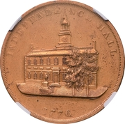 Dollar - U.S. Centennial Exposition (Liberty Bell; Independance Hall) – reverse