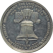 Dollar - U.S. Centennial Exposition (Liberty Bell; Independance Hall; Thick) – obverse