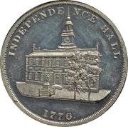 Dollar - U.S. Centennial Exposition (Liberty Bell; Independance Hall; Thick) – reverse