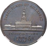 Dollar - U.S. Centennial Exposition (Independance Hall; George Washington) – obverse