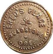 5 Cents - Fred's Place (Gladstone, Oregon) – obverse