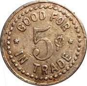 5 Cents - Fred's Place (Gladstone, Oregon) – reverse