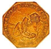 Official Medal - Gold Discovery Centennial – obverse