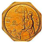 Official Medal - Gold Discovery Centennial – reverse