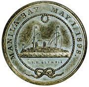 Dollar - Battle of Manila Bay (Admiral George Dewey) – reverse