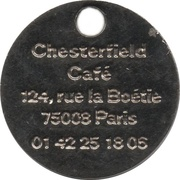 Shopping Cart Token - Chesterfield café – reverse