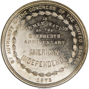 Dollar - US Centennial Exposition (Official Medal) – reverse