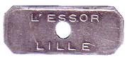 Demi jeton Lille 59 – reverse