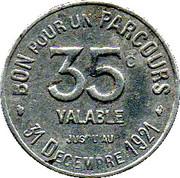 35 Centimes Région Parisienne 75 – reverse