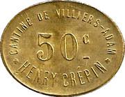 50 Centimes - Cantine de Villiers - Adam - Henri Crépin  [95] – obverse