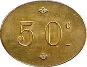 50 Centimes - Cantine de Villiers - Adam - Henri Crépin  [95] – reverse
