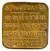 5 Centimes - Société des Grands Cafés - Toulouse [31] – obverse