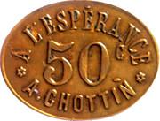 50 Centimes - A l'Espérance : A. Chottin - Champigny-sur-Marne [94] – obverse