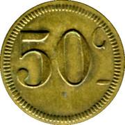 50 Centimes Brasserie Suisse - Paris [75] – reverse