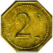 2 Francs Brasserie Suisse - Paris [75] – reverse
