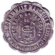15 Centimes - Tramways Marseille – reverse