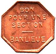 Token - Tramways de Rouen (Bon pour une section - Banlieue) – reverse
