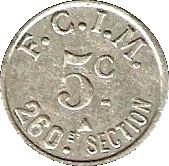 5 Centimes - F.C.I.M 260e Section Salins les Bains [39] – reverse